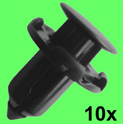 10x Suzuki Push-Type Black Plastic Retainer for Fender Bumper Headlight Support
